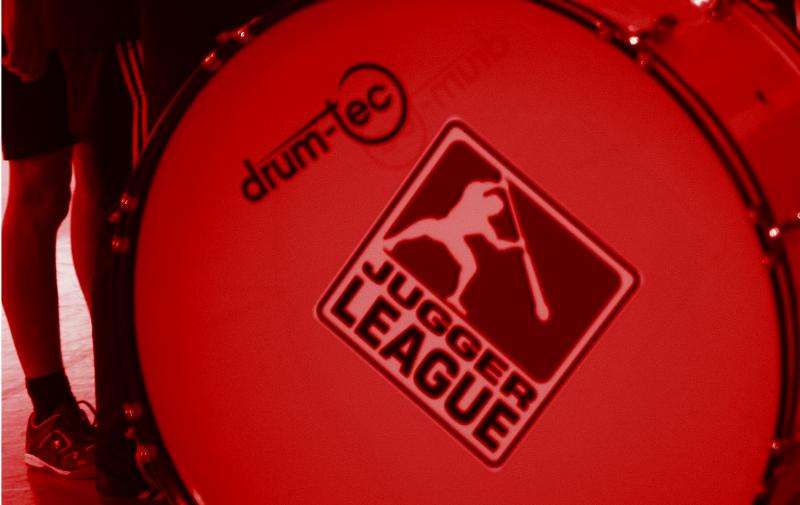 Pauke mit Logo der Deutschen Jugger Liga
